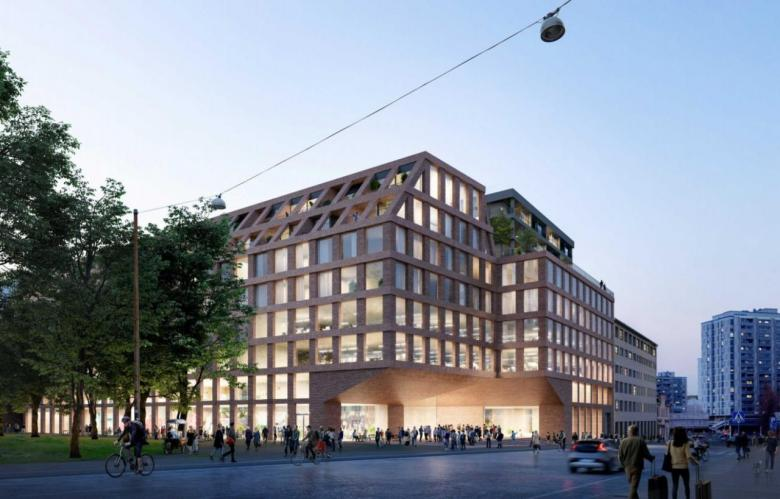 Visualization of the new building at Haapaniemenkatu 4