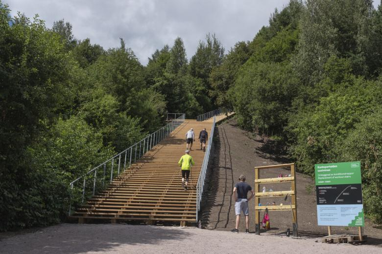 Exercise stairs in Malminkartano