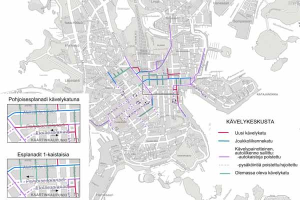 Planning Options For Helsinki S Central Pedestrian Zone And